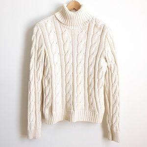 Ralph Lauren Cable Knit Turtleneck Sweater M